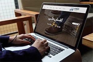 طراحی سایت شرکت کفش ملی